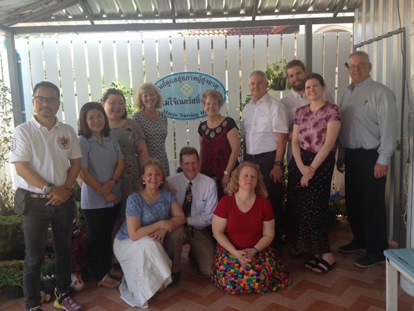 Visiting a senior center in Chiang Mai, Thailand
